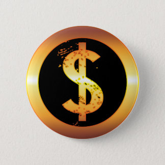 GOLD DOLLAR SIGN BUTTON