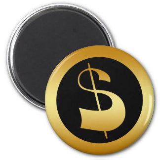 GOLD DOLLAR SIGN MAGNET