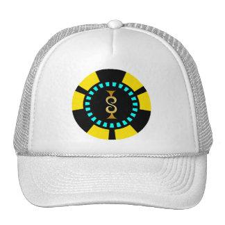 GOLD DOLLAR SIGN POKER CHIP HATS