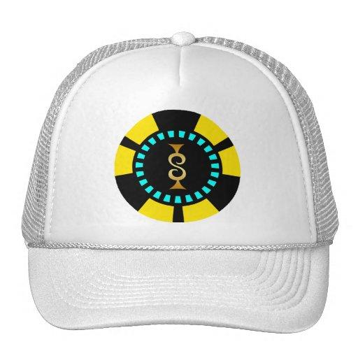 GOLD DOLLAR SIGN POKER CHIP TRUCKER HAT