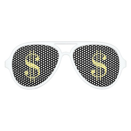 917002b69cb8 Gold   Dollar Signs Bling Party Favor Sunglasses
