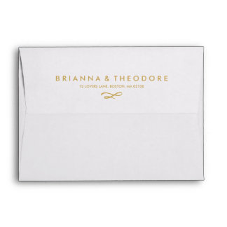 Gold Dot Liner with Return Address Envelope