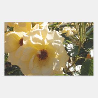 Gold Dot Roses Rectangular Sticker