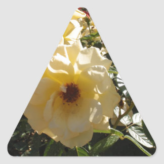 Gold Dot Roses Triangle Sticker