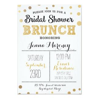 Gold Dots Bridal Shower Invitation