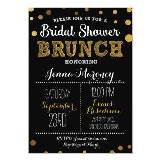 Gold Dots Bridal Shower w/ Black Back Invitation