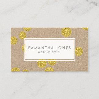 Gold Dots Classic Modern Make Up Artist Business Card