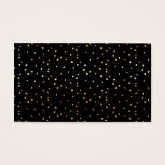 Gold Dots Confetti Faux Foil Metallic Dot Black Business Card