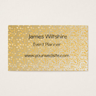 Gold dots design simple text layout customize-able business card