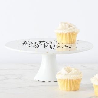 Gold Dots Fab future Mrs. Cake Stand
