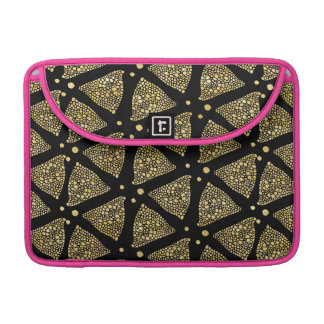 Gold Dots Hand Drawn Triangles Pattern Sleeve For MacBooks