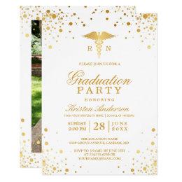 Gold Dots Medical Nursing School Graduation Party Card