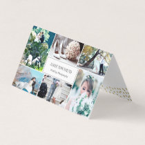Gold Dots Photo Collage Professional Photographer Business Card