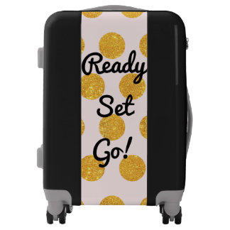 Gold Dots Ready Set Go Luggage