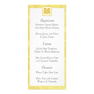 Gold • Double Happiness • Square Customized Rack Card