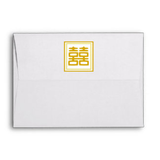 Gold • Double Happiness • Square Envelope