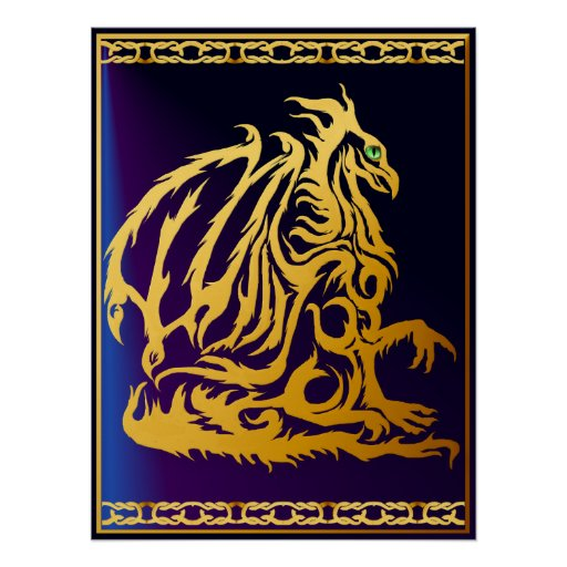 Gold Dragon1 Posters
