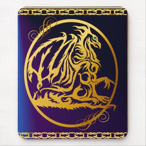 Gold Dragon 1 Vertical Mousepad