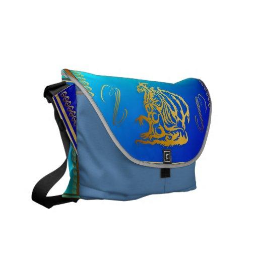 Gold Dragon 3 Rickshaw Messengerr Bag