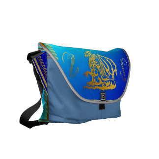 Gold Dragon 3 Rickshaw Messengerr Bag Courier Bags