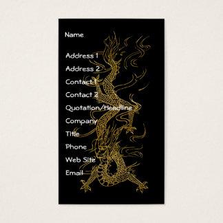 GOLD DRAGON Asian Design Business Card