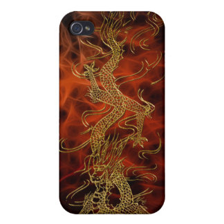 Gold Dragon Asian Fire Fractal Art iPod Touch Case