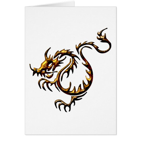 Gold Dragon Card