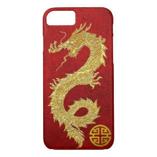 Gold Dragon Chinese Prosperity Symbol iPhone 8/7 Case