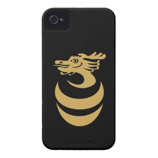 Gold Dragon Custom Background IPhone4 Case