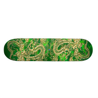 Gold Dragon Green Satin Lush Skateboard