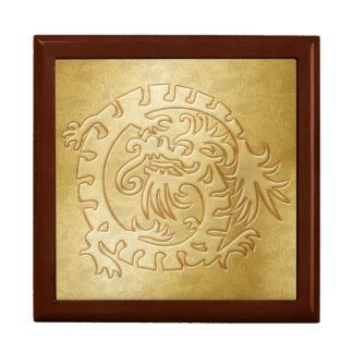Gold Dragon Icon on Gold - 1 Gift Box
