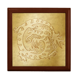 Gold Dragon Icon on Gold - 1 Jewelry Boxes