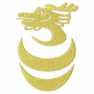 Gold Dragon in Egg Embroidered Jacket