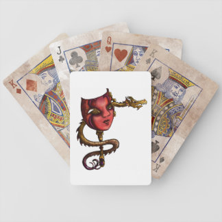 Gold Dragon Mask I Bicycle Playing Cards