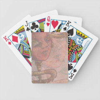 Gold Dragon Mask II Bicycle Playing Cards