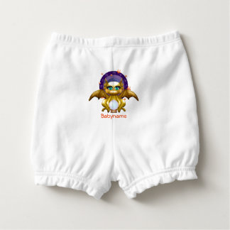 Gold Dragon Mystic Fortune Teller Personalized Diaper Cover