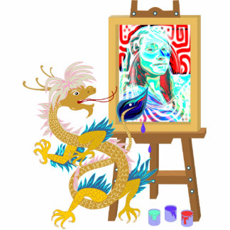 Gold Dragon paints your portrait Sculpture