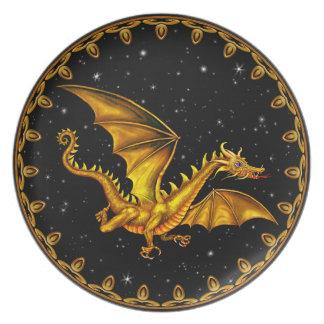 Gold Dragon plate