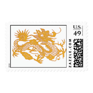 Gold Dragon postage stamp