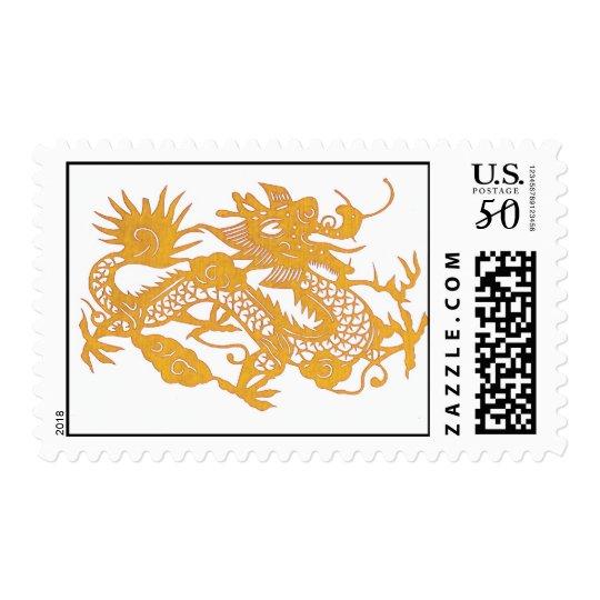 Gold Dragon postage stamp