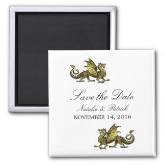 Gold Dragon Save the Date Magnet