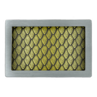 Gold Dragon Scales Belt Buckle