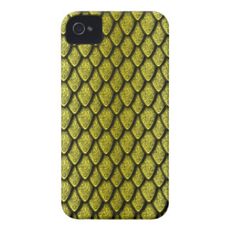 Gold Dragon Scales Case-Mate iPhone 4 Cases