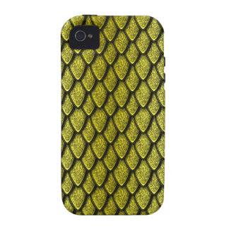 Gold Dragon Scales iPhone 4/4S Covers
