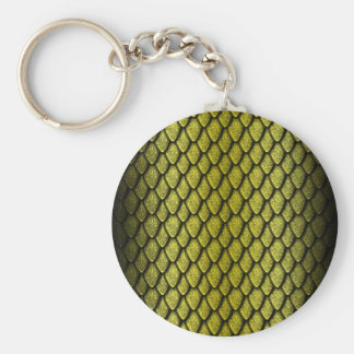Gold Dragon Scales Key Chains