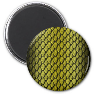 Gold Dragon Scales Refrigerator Magnets