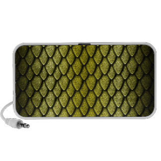 Gold Dragon Scales Travelling Speakers