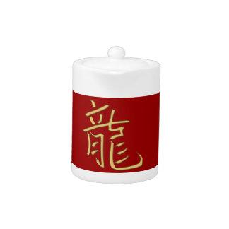 gold dragon teapot
