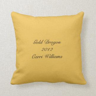 Gold Dragon Throw Pillow