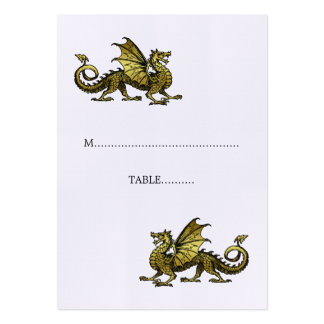 Gold Dragon Wedding Place Card Large Business Cards (Pack Of 100)